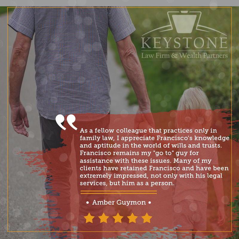 Keystone Law Firm Client Testimonial - Amber Guymon