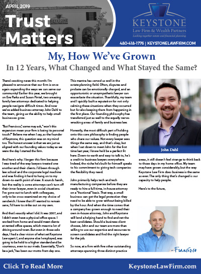 April 2019 - My How We Have Grown Keystone Law Firm