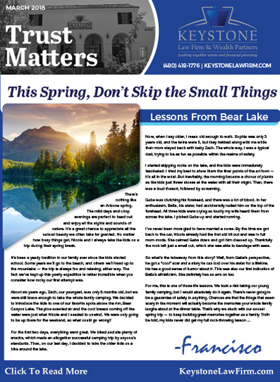 March 2018 - The Spiring, Dont Skip Small Things by Keystone Law Firm