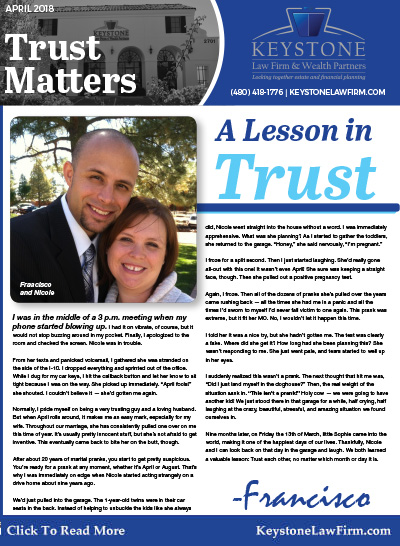 April 2018 Trust Matters Newsletter