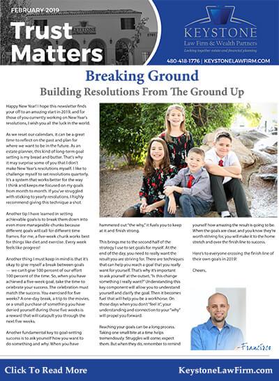 February 2019 Trust Matters Newsletter
