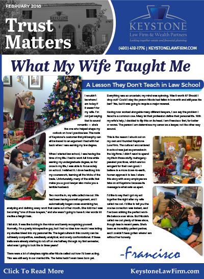 February 2018 Trust Matters Newsletter