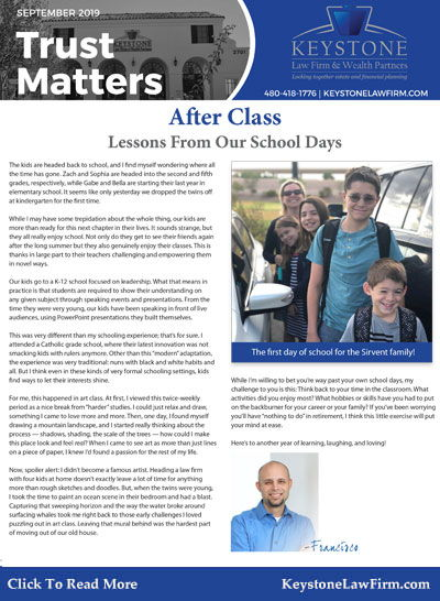 September 2019 Trust Matters Newsletter