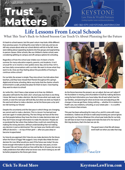 Life Lessons From Local Schools - Keystone Law Firm Arizona Newsletters