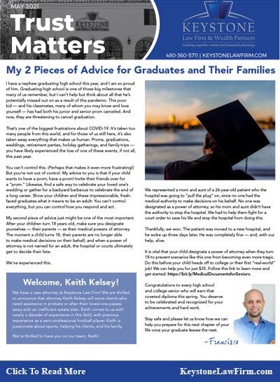 My 2 Pieces of Advice - Keystone Law Firm Arizona Newsletters