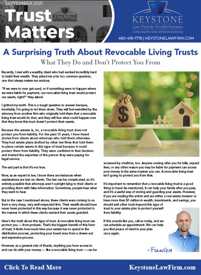A Surprising Truth About Revocable Living Trusts - Keystone Law Firm Arizona Newsletters